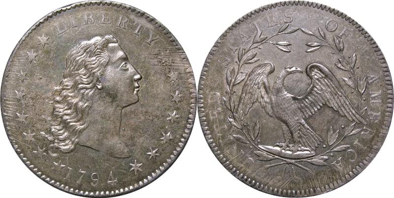 Moedas Mais Caras - Prata Fluindo Cabelo: Dólar de Cobre (1794)