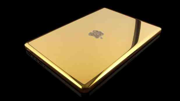 Most Expensive Laptops - MacBook Pro 24 Karat Gold