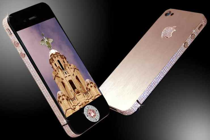 Most Expensive Phones - Stuart Hughes iPhone 4 Diamond Rose Edition
