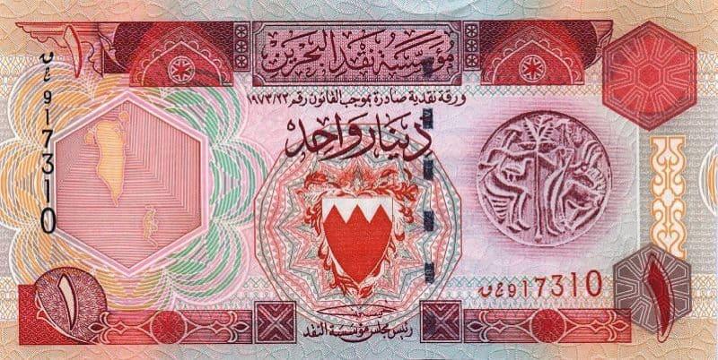 Moedas Mais Fortes - Dinar do Bahrein
