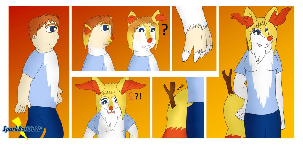 fox magic braixen anthro