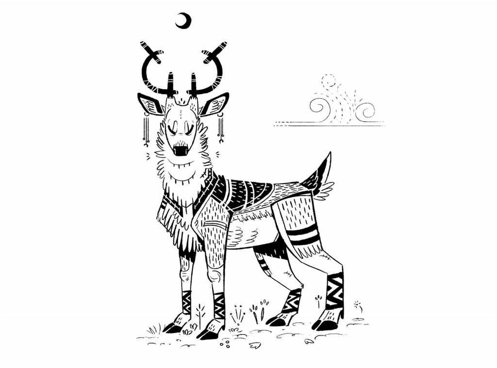 Wind deer — Weasyl