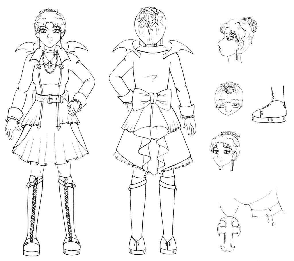 Prinnycess Character Reference Sheet