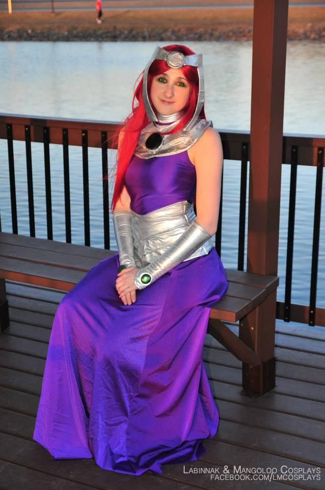 Starfire Formal Gown Cosplay In The Gazebo Weasyl