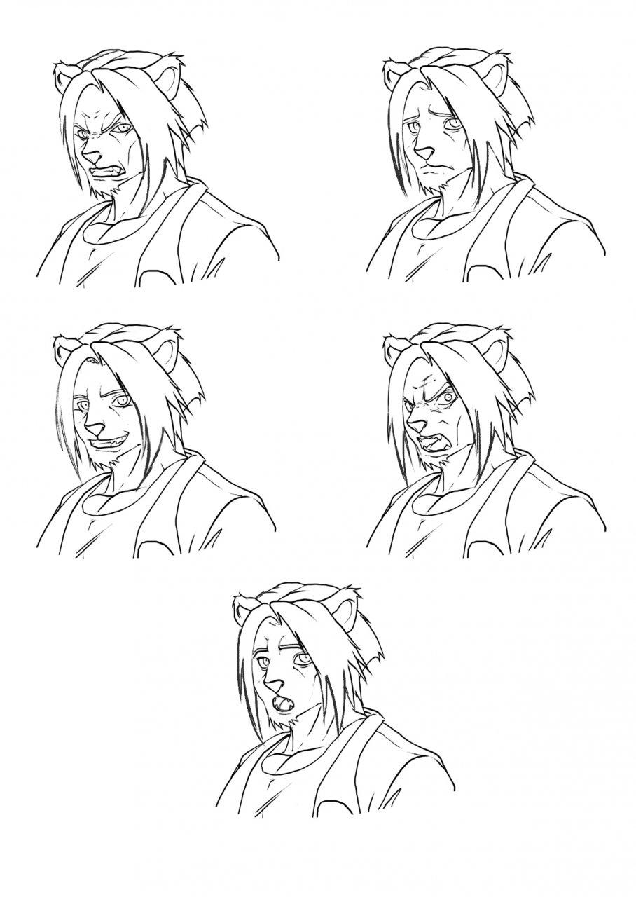 Vincent's expression reference sheet — Weasyl