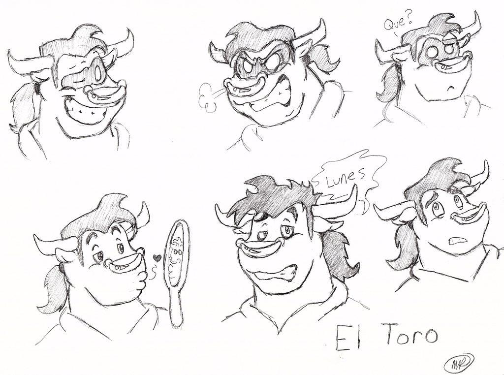 [commission] El Toro Expression Sheet — Weasyl