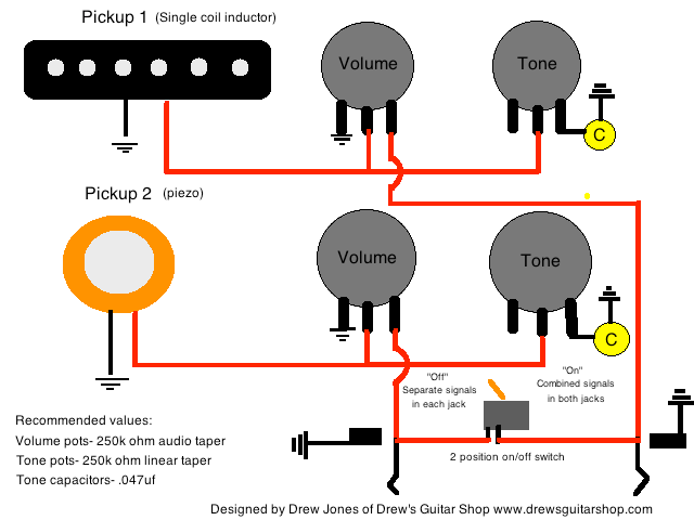 guitar wiring diagram 2 pickup 1 volume tone 3 gang light switch multiple lights acoustic/electric stereo/mono — weasyl