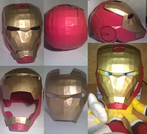 3 Iron Man Helmet Paper Files Year Of Clean Water