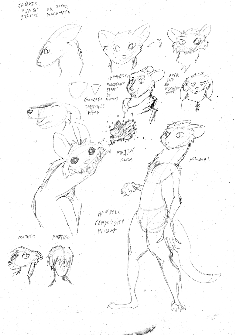Character sketch test — Weasyl