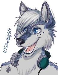 Cute Kawaii Wolf Girl 1