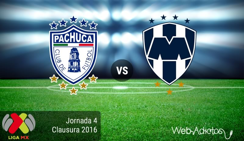 Pachuca vs Monterrey en la Jornada 4 del torneo Clausura 2016 - pachuca-vs-monterrey-clausura-2016