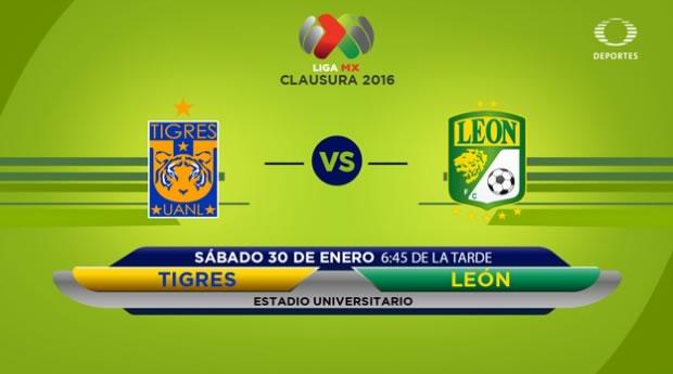 Tigres vs León, Fecha 4 del Clausura 2016 en la Liga MX - tigres-vs-leon-clausura-2016-por-televisa-deportes