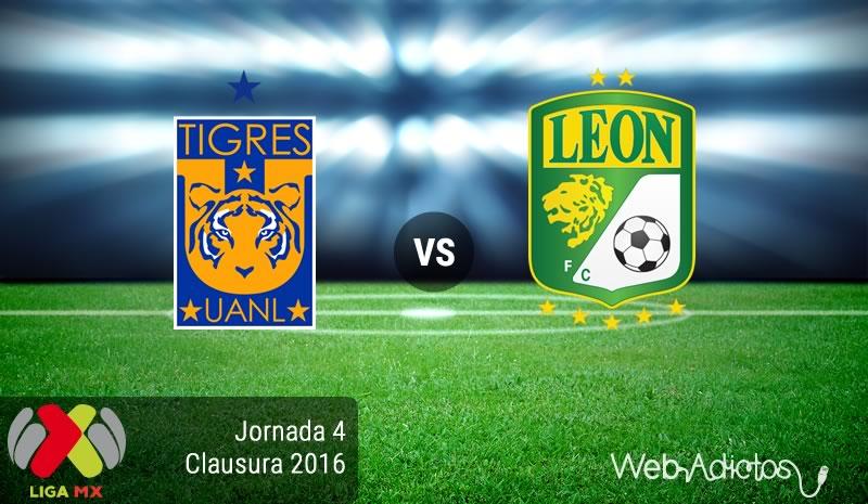 Tigres vs León, Fecha 4 del Clausura 2016 en la Liga MX - tigres-vs-leon-clausura-2016