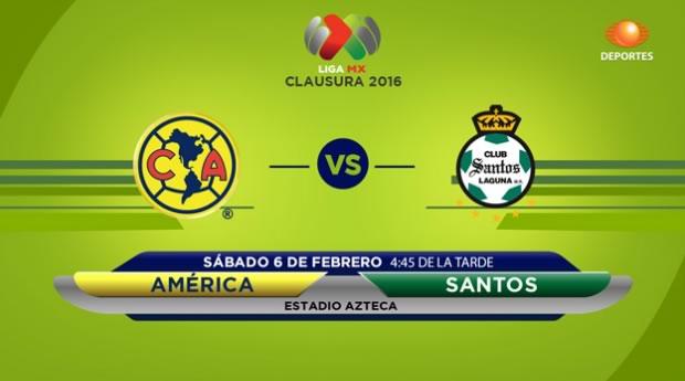 América vs Santos, Liga MX Clausura 2016 | Jornada 5 - america-vs-santos-en-vivo-por-televisa-deportes-clausura-2016