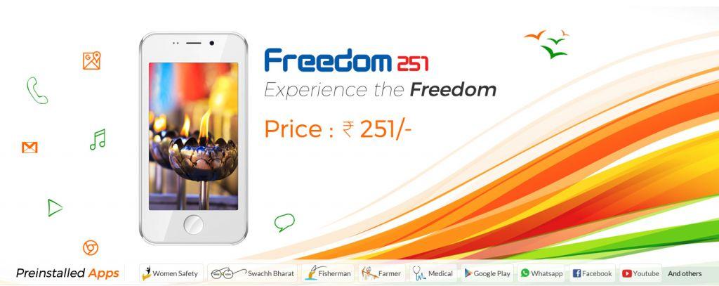 Freedom 251, el smartphone de poco más de 3 dólares - freedom-251