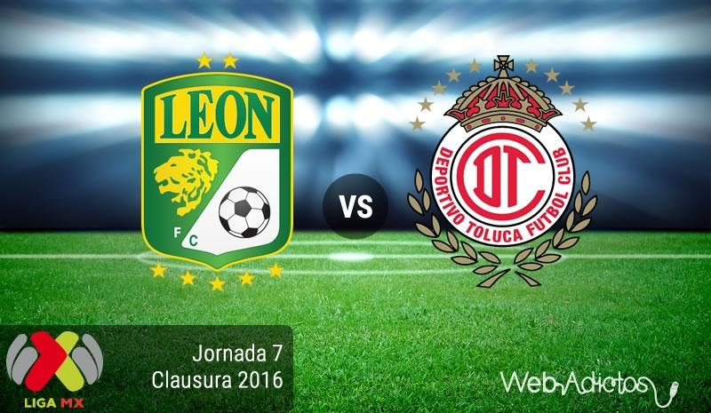 León vs Toluca, Jornada 7 del Clausura 2016 en la Liga MX - leon-vs-toluca-clausura-2016