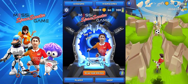 Messi Space Scooter, el nuevo juego de Lionel Messi para iOS y Android - messi-space-scooter-game