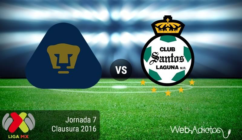 Pumas vs Santos, Jornada 7 del Clausura 2016 en la Liga MX - pumas-vs-santos-jornada-7-del-clausura-2016