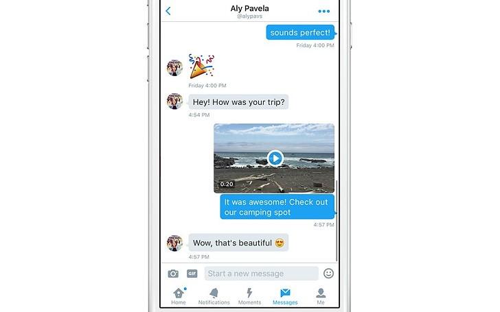Twitter ofrece el envío de videos por mensaje directo - twitter-video