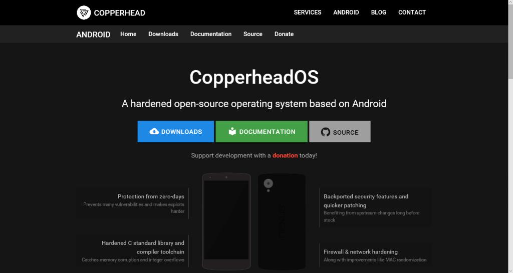 CopperheadOS: un sistema basado en Android enfocado en la apertura y seguridad - copperheados
