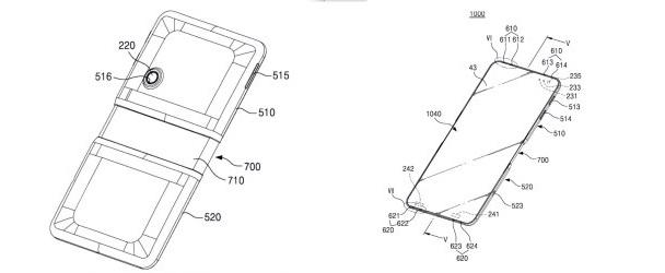 Filtran posible patente del primer smartphone plegable de Samsung - telefono-plegable-samsung-patente