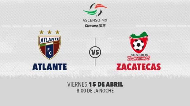 Atlante vs Mineros, J15 del Ascenso MX C2016 | Resultado: 2-2 - atlante-vs-mineros-ascenso-mx-clausura-2016-j15