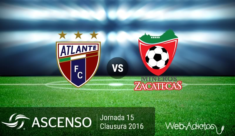 Atlante vs Mineros, J15 del Ascenso MX C2016 | Resultado: 2-2 - atlante-vs-mineros-de-zacatecas-ascenso-mx-clausura-2016