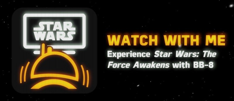 BB-8 reacciona cuando ve 'El Despertar de la Fuerza' - bb-8-watch-with-it-800x344