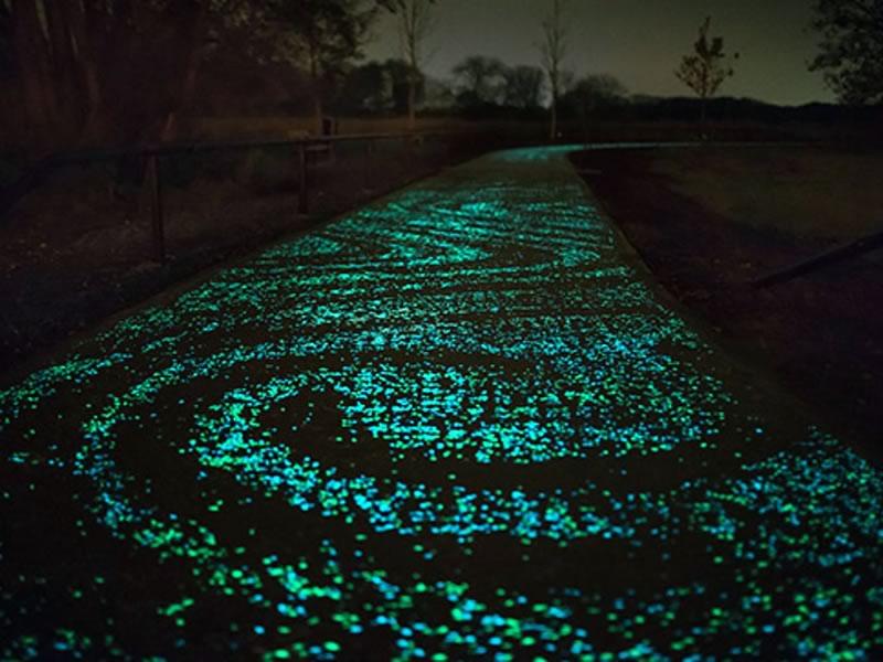 Buscan iluminar carreteras con cemento emisor de luz - cemento-emisor-de-luz