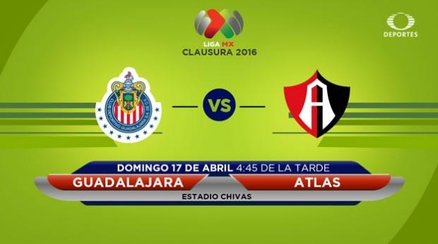 Chivas vs Atlas, Clásico Tapatío del Clausura 2016 | Resultado: 1-0 - clasico-chivas-vs-atlas-por-televisa-deportes-clausura-2016