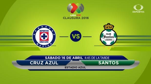 Cruz Azul vs Santos, J14 del Clausura 2016 | Resultado: 0-1 - cruz-azul-vs-santos-por-televisa-deportes-clausura-2016