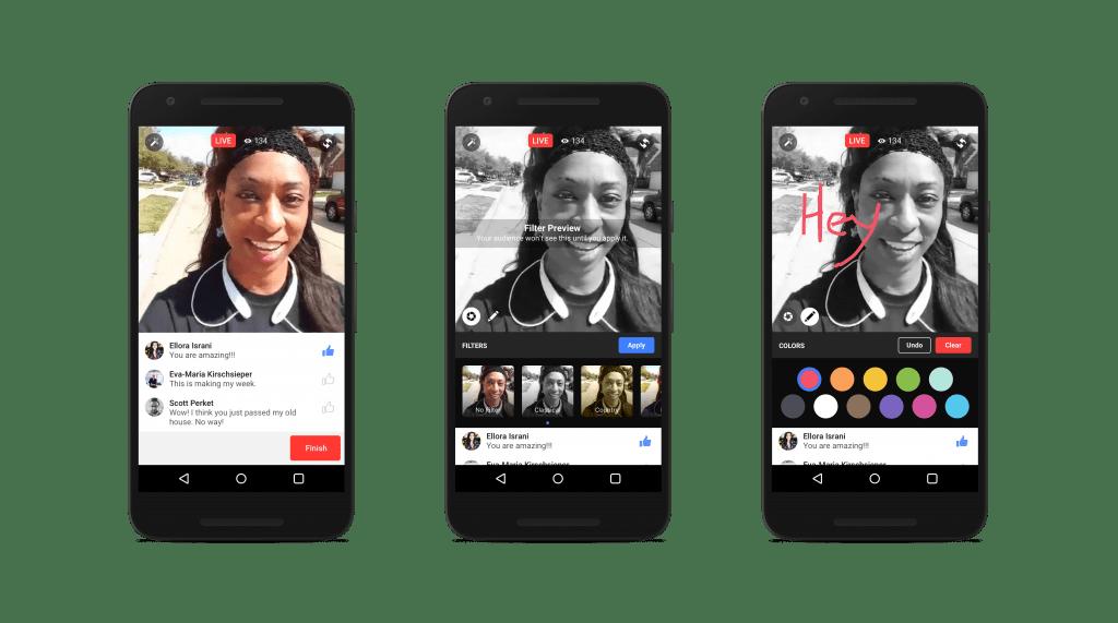 Facebook Live recibirá nuevas funciones. - facebook-live-filtros