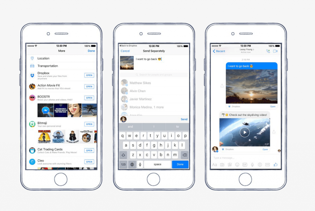 Dropbox anuncia integración con Facebook Messenger - facebook-messenger-dropbox