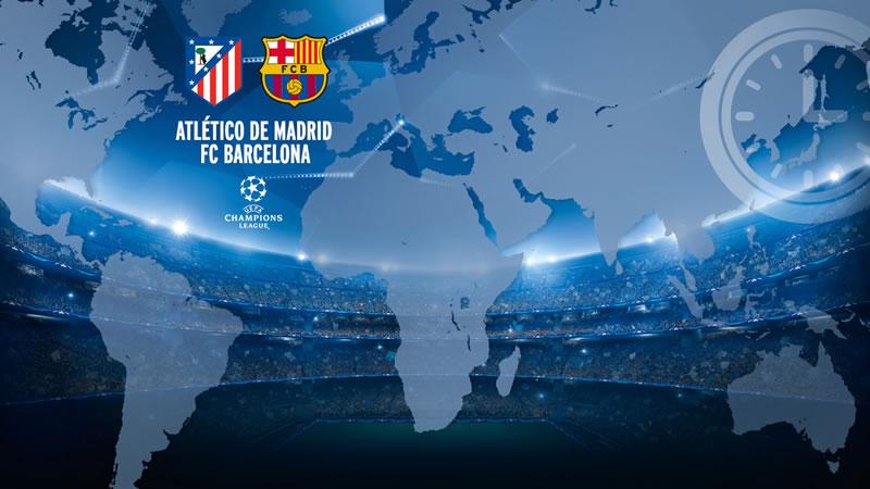 A qu hora juegan atl tico de madrid vs barcelona en for En que canal juega el barcelona