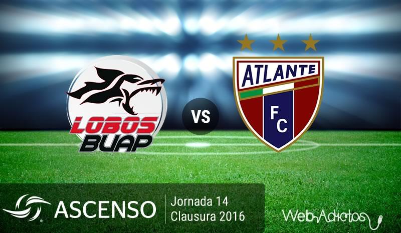 Lobos BUAP vs Atlante, J14 del Ascenso MX C2016 | Resultado: 1-0 - lobos-buap-vs-atlante-ascenso-mx-clausura-2016