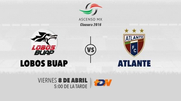 Lobos BUAP vs Atlante, J14 del Ascenso MX C2016   Resultado: 1-0 - lobos-buap-vs-atlante-por-tdn-clausura-2016