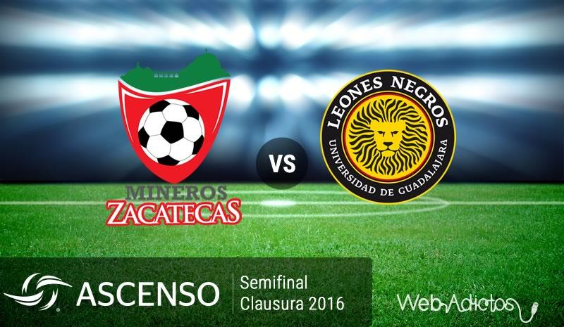 Mineros vs Leones Negros UDG, Semifinal del Ascenso MX C2016 | Resultado: 1-1 - mineros-vs-leones-negros-udg-semifinal-ascenso-mx-clausura-2016