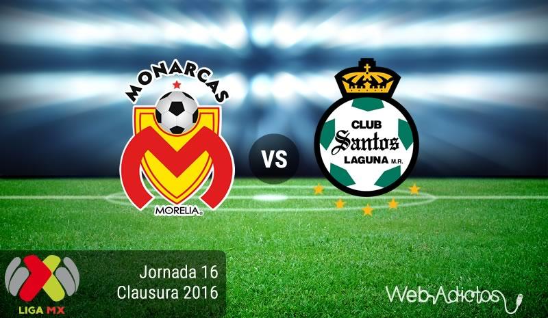 Morelia vs Santos, Jornada 16 del Clausura 2016 | Resultado: 3-2 - monarcas-morelia-vs-santos-jornada-16-del-clausura-2016