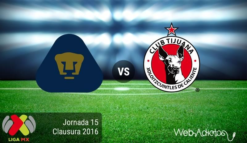 Pumas vs Tijuana, Jornada 15 del Clausura 2016 | Resultado: 3-1 - pumas-vs-tijuana-jornada-15-del-clausura-2016