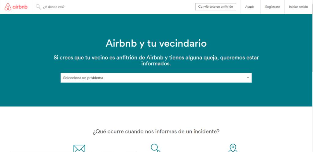 Airbnb habilita página para que vecinos reporten a invitados molestos - airbnb-reportes