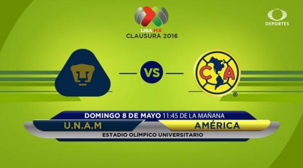 Pumas vs América, Clásico Capitalino en el Clausura 2016 | Resultado: 1-1 - pumas-vs-america-televisa-deportes-clausura-2016