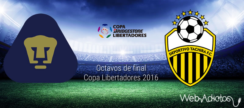 Pumas vs Táchira, vuelta de octavos de la Libertadores 2016 | Resultado: 2-0 - pumas-vs-tachira-octavos-de-final-copa-libertadores-2016