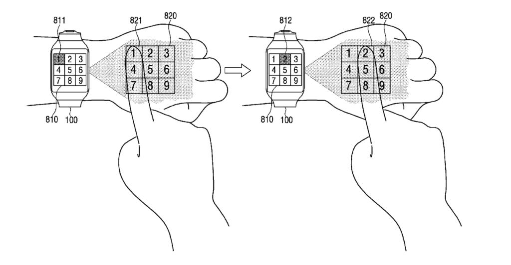 Samsung patenta un smartwatch muy futurístico - samsung-smartwatch-proyector