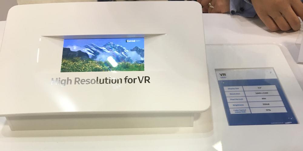 Samsung presenta una pantalla pensada en dispositivos de Realidad Virtual - samung-4k-vr