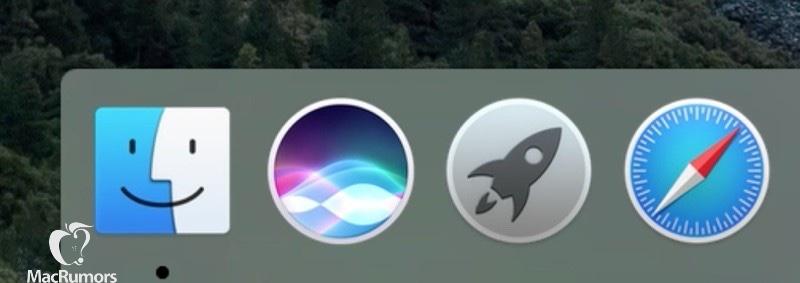 Se filtran capturas de Siri en OS X 10.12 - siri-dock-icon