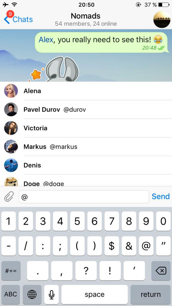 Telegram añade la posibilidad de editar mensajes - telegram-menciones