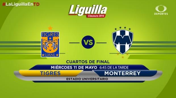 Tigres vs Monterrey, Liguilla del Clausura 2016 | Resultado: 1-3 - tigres-vs-monterrey-televisa-deportes-liguilla-clausura-2016