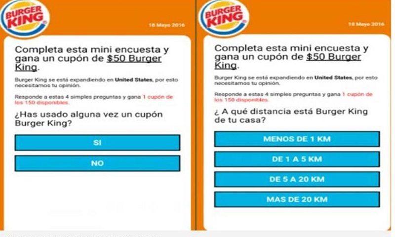 Advierten de nueva estafa vía WhatsApp con cupón de Burger King - whatsapp-burguer-king-estafa-800x480