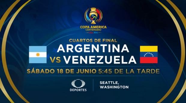 argentina vs venezuela en vivo copa america 2016 Argentina vs Venezuela, Copa América Centenario | Resultado: 4 1