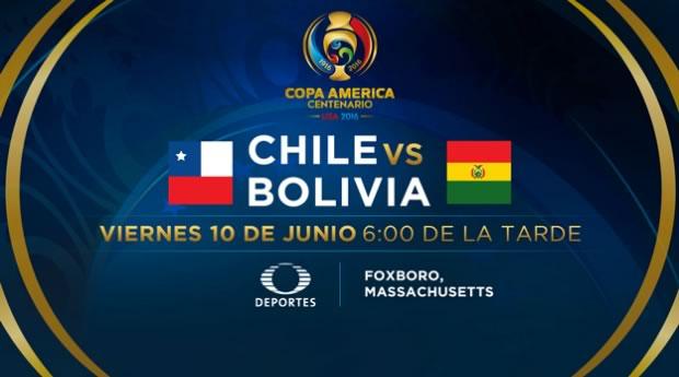 Chile vs Bolivia, Copa América Centenario | Resultado: 2-1 - chile-vs-bolivia-copa-america-2016-televisa-deportes